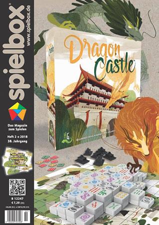 Spielbox 02/2018 inkl. zwei Spielpläne für Dragon Castle