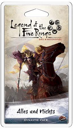 Legend of the 5 Rings - Das Kartenspiel - Alles und nichts Dynastie-Pack (Elementar 5)