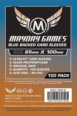 Mayday - 100 Kartenhüllen Magnum blau für Kartengröße 65 x 100 mm
