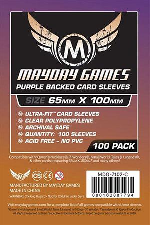 Mayday - 100 Kartenhüllen Magnum lila für Kartengröße 65 x 100 mm