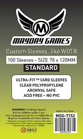 """Mayday - 100 Kartenhüllen für """"Der Ringkrieg"""" 70 x 120 mm"""