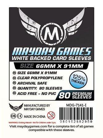 Mayday - 80 Kartenhüllen weiß für Kartengröße 63,5 x 88 mm