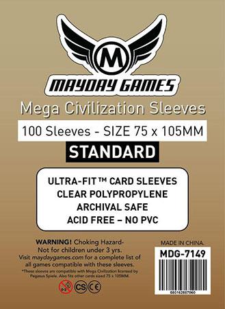 """Mayday - 100 Kartenhüllen """"Mega Civilization"""" für Kartengröße 75 x 105 mm"""
