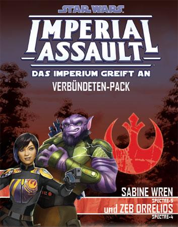 Star Wars: Imperial Assault - Sabine Wren und Zeb Orrelios Verbündeten-Pack