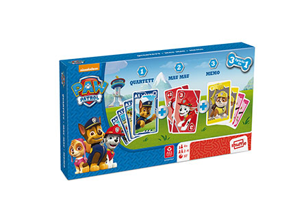 Paw Patrol - Spielebox 3 in 1