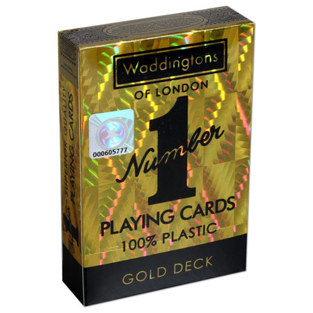 Number 1 Spielkarten - Waddington No. 1 - Gold Deck