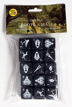 DiceWar - Roots of Mali Würfelset schwarz