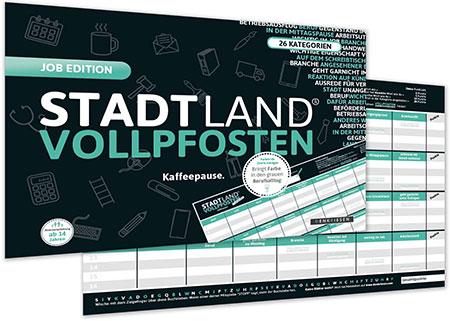 Stadt Land Vollpfosten - Job Edition (DINA4-Format)