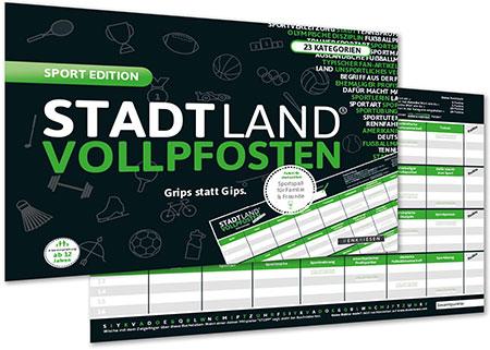 Stadt Land Vollpfosten - Sport Edition (DINA4-Format)