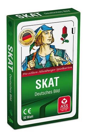 Skat - Deutsches Bild, Kornblume (Faltschachtel)