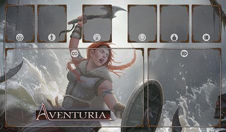 Aventuria Spielmatte - Thorwalsche Kriegerin