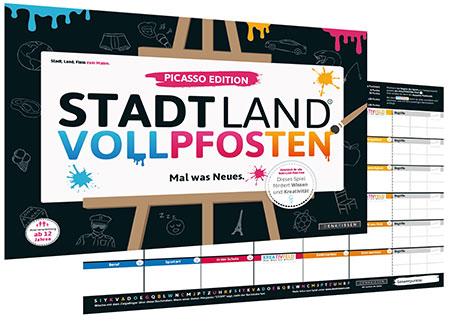Stadt Land Vollpfosten - Picasso Edition (DINA3-Format)