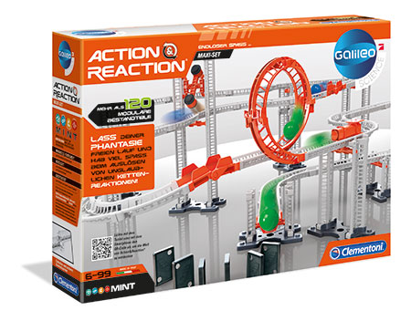 Action & Reaction - Maxi Set mit 120 modularen Komponenten