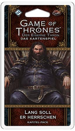 Der Eiserne Thron - Das Kartenspiel 2. Edition - Lang soll er herrschen Kapitel-Pack (Königsmund 6)