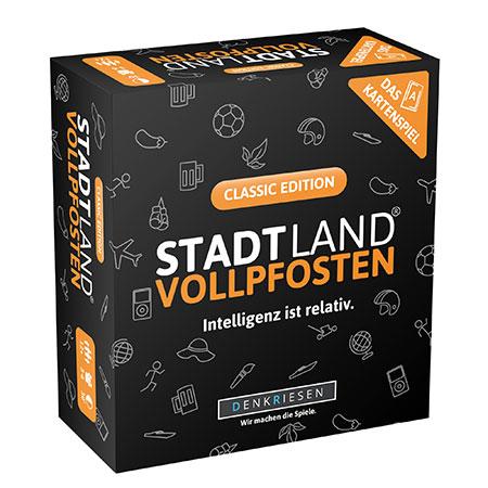 Stadt Land Vollpfosten - Das Kartenspiel – Classic Edition