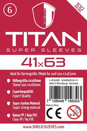 Shield Titan - 100 Super Sleeves für Kartengröße 41 x 63 mm