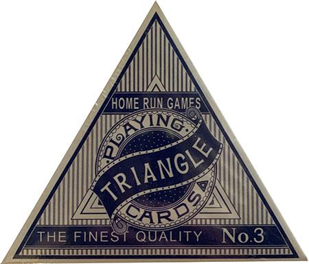 Triangle Playing Cards - Blue Triangle Deck (Dreieckskarten)