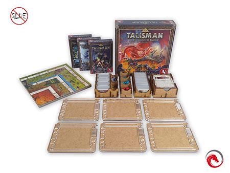 e-raptor - Sortiereinsatz und Spieler-Tableaus für Talisman 4. Edition und drei Erweiterungen