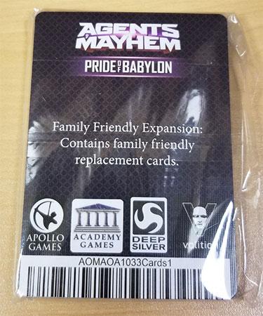 Agents of Mayhem: Pride of Babylon - Family Friendly Expansion