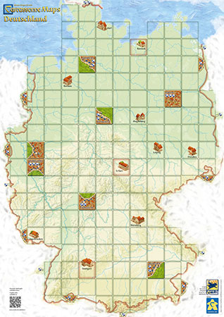 Carcassonne Karte - Deutschland