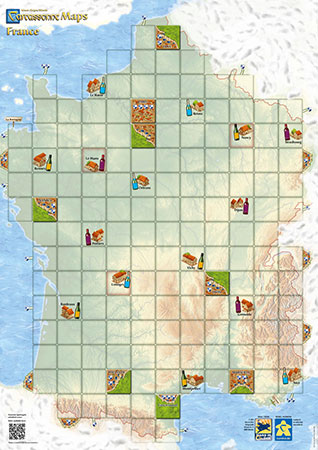 Carcassonne Karte - Frankreich