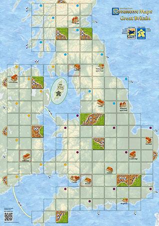 Carcassonne Karte - Großbritannien