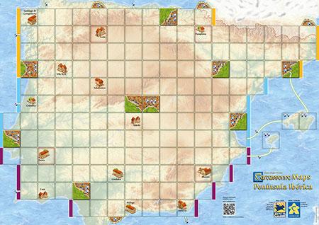 Carcassonne Karte - Península Ibérica