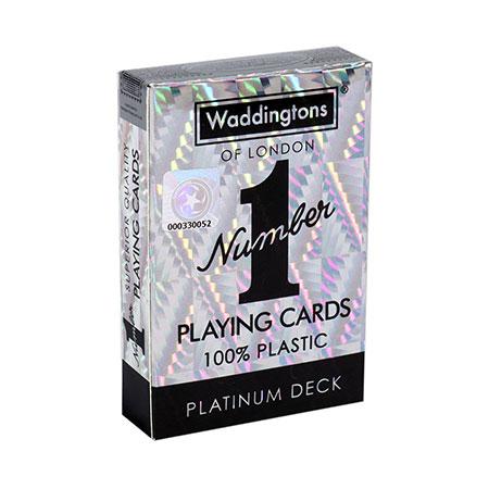 Number 1 Spielkarten - Waddington - Platinum Deck