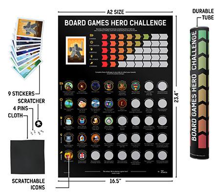 TopScratch - Scratch-Off Poster Brettspiel-Held Challenge