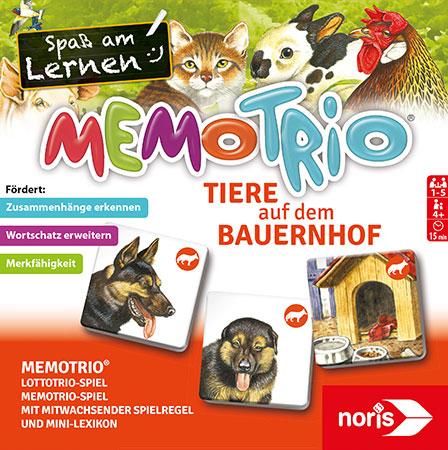 MemoTrio - Tiere auf dem Bauernhof