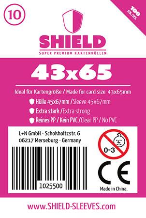 Shield - 100 Super Premium Kartenhüllen für Kartengröße 43 x 65 mm