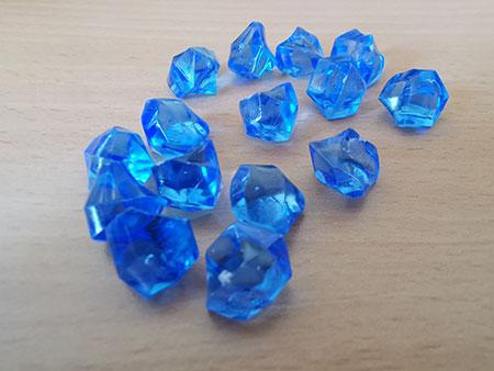 Kristallmarker - hellblau/transparent (Set aus 15 Stück)