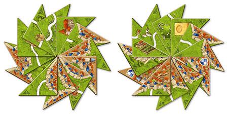 Carcassonne - Halb so wild I + II Erweiterung