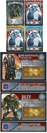 Champions of Midgard - Sonderkarten-Paket 1 (Jalev, Björn, Draudan)