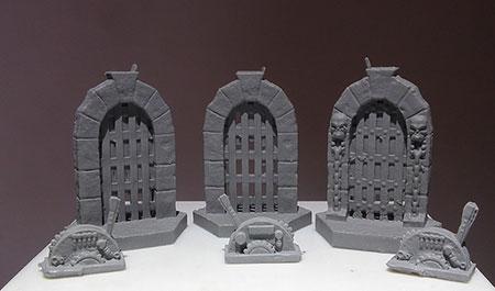 Perdition´s Mouth: Abyssal Rift - Fallgatter- & Hebel-Miniaturen-Set