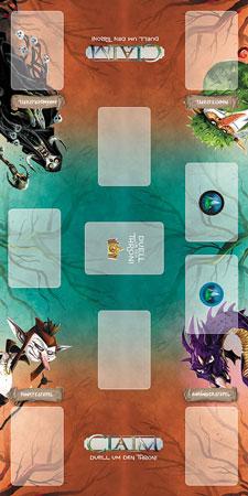 Claim - Spielmatte Design 1