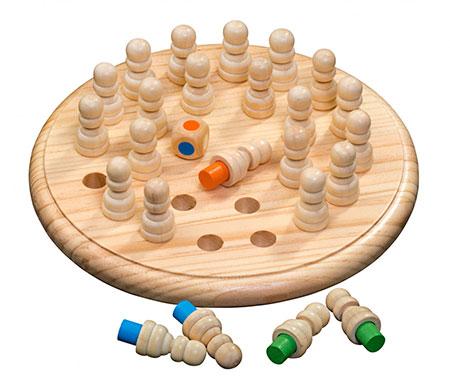 Memo Spiel (rund aus Holz)
