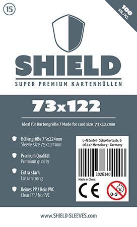 Shield - 100 Super Premium Kartenhüllen für Kartengröße 73 x 122 mm
