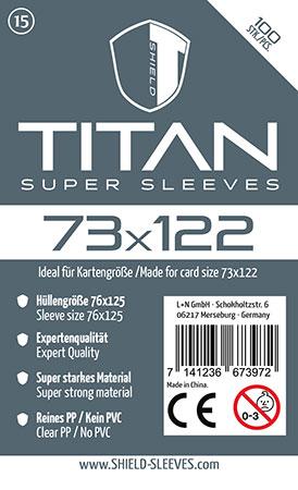 Shield Titan - 100 Super Sleeves für Kartengröße 73 x 122 mm