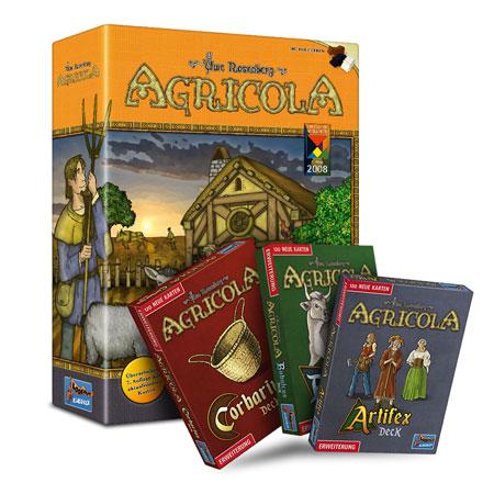 Agricola - Kennerspiel Bundle inkl. 3 Deck Erweiterungen