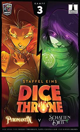 Dice Throne - Pyromantin vs. Schattendieb
