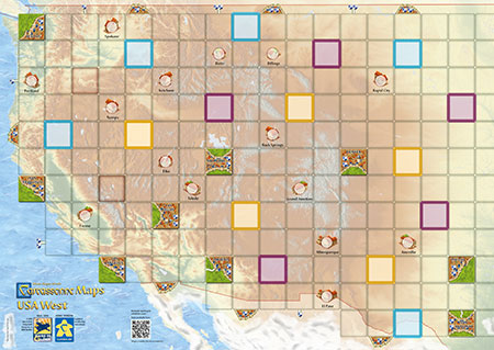 Carcassonne Karte - USA-West