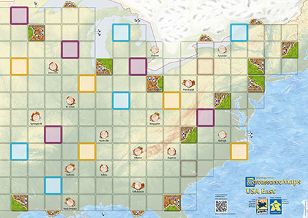 Carcassonne Karte - USA-Ost