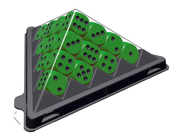 Mini Würfelpyramide - grün (Erweiterung für Das Spiel)
