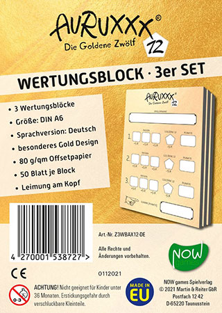 Auruxxx - Die Goldene 12 Ersatzblock (3er Set)