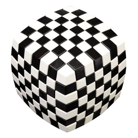 V-Cube 7 Illusion 7x7 - schwarz-weiß
