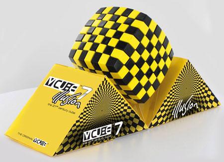 V-Cube 7 Illusion 7x7 - schwarz-gelb