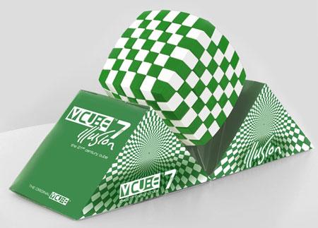 V-Cube 7 Illusion 7x7 - grün-weiß