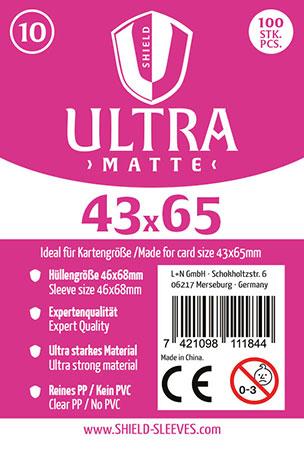 Shield Ultra Matte - 100 Super Sleeves für Kartengröße 43 x 65 mm