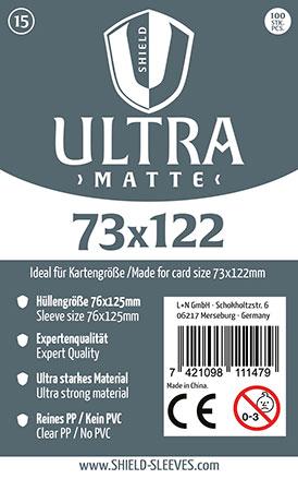Shield Ultra Matte - 100 Super Sleeves für Kartengröße 73 x 122 mm